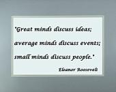 Quote Poster Famous Women Eleanor Roosevelt #1 -