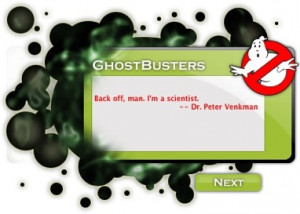 About GhostBusters Random Quote Widget