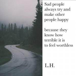 quote tumblr happy depressed depression sad quotes true alone dark ...