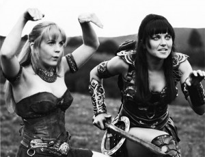 renee o connor and lucy lawless as gabrielle and xena
