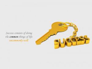 Quotes-Key of Success Wallpaper