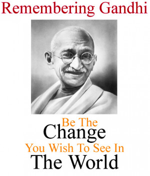 Gandhi plunged into the turmoil around him, travelling to nearby ...