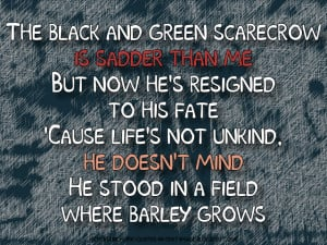 The Scarecrow - Pink Floyd Song Lyric Quote in Text Image