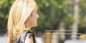 sneaky gaze, Favourite Dianna Agron Quotes || Source