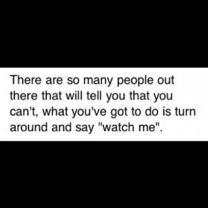 Watch me ;)