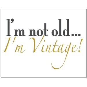 Not Old I'm Vintage Small Poster - CafePress Canada