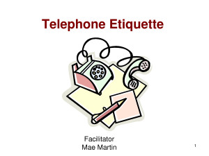 Customer Service Phone Etiquette by bwr21302