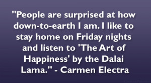 like to stay home on friday nights and listen to the art of happiness ...