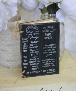 Bridal Shower Guest Book Rustic Chic Wedding Decor Love Quotes (Item ...