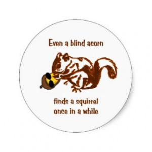 Blind Squirrel Stickers