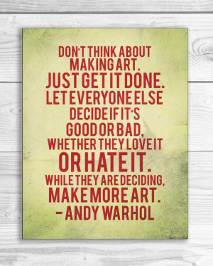 Andy Warhol Quote Print Art Quote Poster 11 x by SmartyPantsStudio, $ ...
