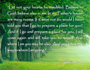 Bible Quotes About Death – John 14:1-4