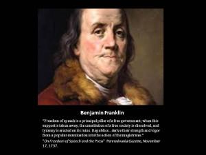 Benjamin Franklin- Quote: Freedom of Speech