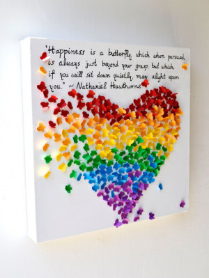 NEW INSPIRATIONAL QUOTE - 3D Butterfly Heart with Your Favorite Quote ...