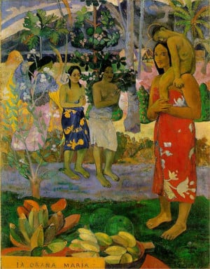 We Hail Thee Mary, 1891 by Paul Gauguin