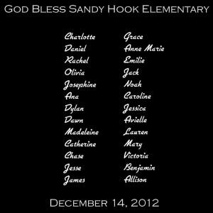God Bless Sandy Hook Elementary.
