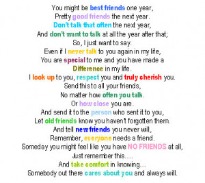 You Might Be Best Friends One Year…