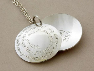 ... silver ... Handmade Jewelry ... inspirational quote ... BFF necklace