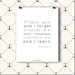 Benjamin Franklin quote | @mamamissblog #education #STEM # ...