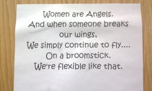 women are angels and when someone breaks our wings