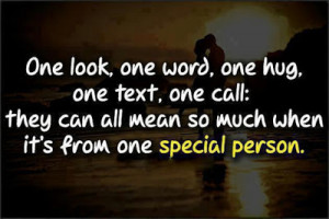 One Special Person Love Picture Quote