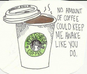 coffee, drawing, quotes, words