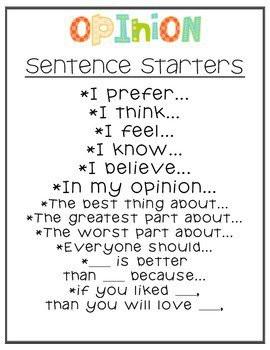 Persuasive essay starters sentences