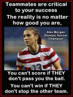 Alex Morgan Soccer Photo Quote Wall Art Poster Print 8x11