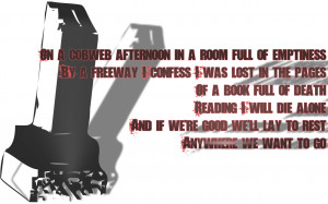 Like A Stone - Audioslave Song Lyric Quote in Text Image