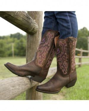 Justin Women's Chocolate Puma Boot http://www.countryoutfitter.com ...
