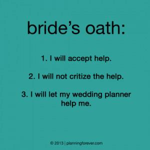 Funny Wedding - Bride's Oath
