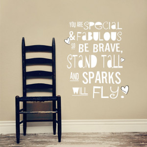 STAND TALL -Vinyl Decal - Inspirational quote - Boy or Girl Design