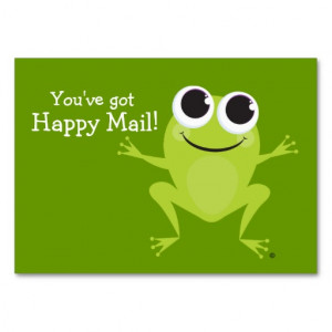 Happy Mail Cute Frog Card