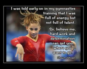 Quotes by Shawn Johnson Gymnastics