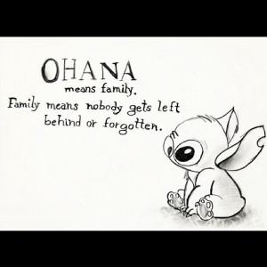 stitch #disney #quotes #ohana (Taken with Instagram)
