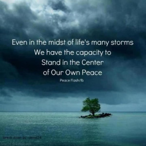 the midst of life s many storms we have the capacity to stand in the ...