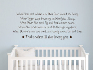 When Elmo isn't ticklish, and Pooh bear quote vinyl wall decal