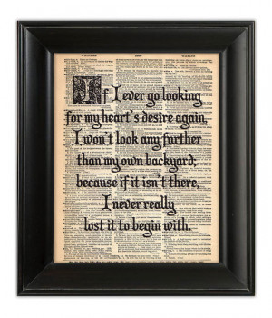 Wizard OZ Quote Dictionary Art Print Poster Dorothy Home Heart Fairy ...