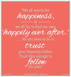 Follow God's Plan