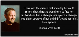 Turn On Quotes For Her More orson scott card quotes