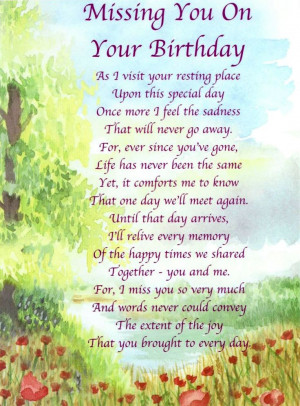 Happy Birthday to My Dad in Heaven Poems | Always in Our Thoughts ...