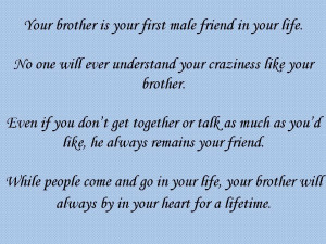 ... you for being a great brother and friend all my love your big sis