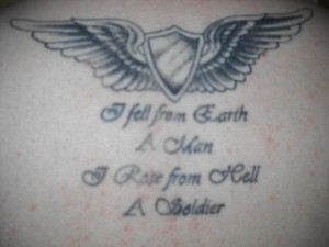army wings tattoo