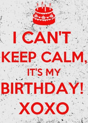 ... to me, to me. Happy happy birthday to me.' Another year older