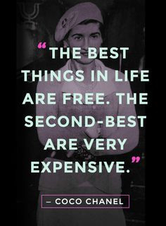 ... are free. The second-best are very expensive
