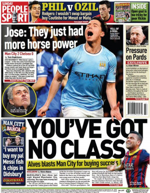 ... Brendan Rodgers has given some of the Sunday papers some juicy quotes