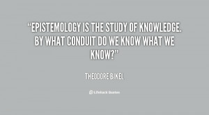 epistemology study guide Epistemology – especially in its second edition – is simply the best textbook in  the use of this book in the study of philosophy is not limited to courses.