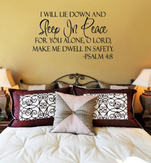 Sleep In Peace Bible Verse- Wall Say Quote Word Lettering Art Vinyl ...