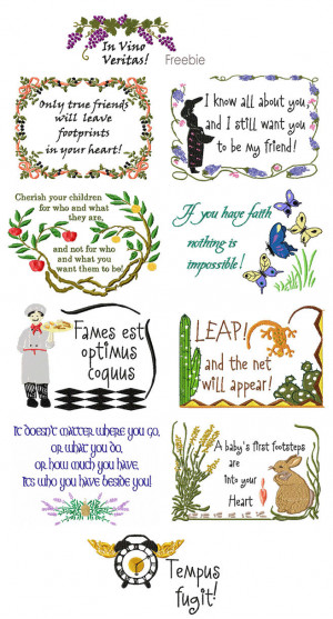 Embroidery Sayings