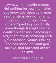 treating others with honesty respect and consideration in a relationship
